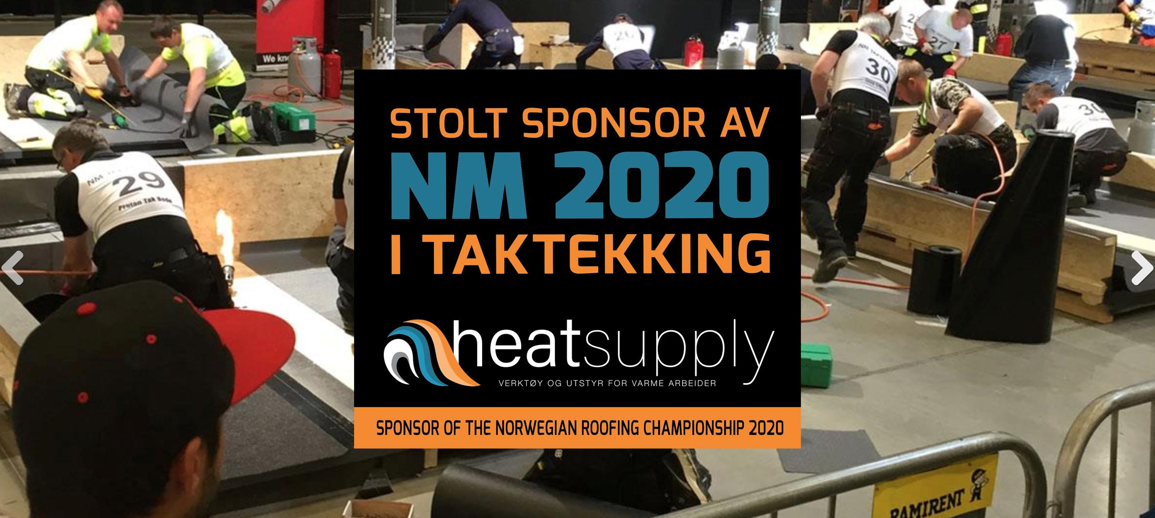 Stolt sponsor av gass-verktøy til NM i taktekking 2020